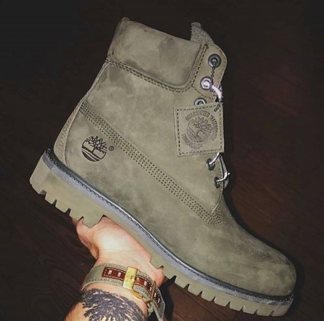 Olive Timberland Boots