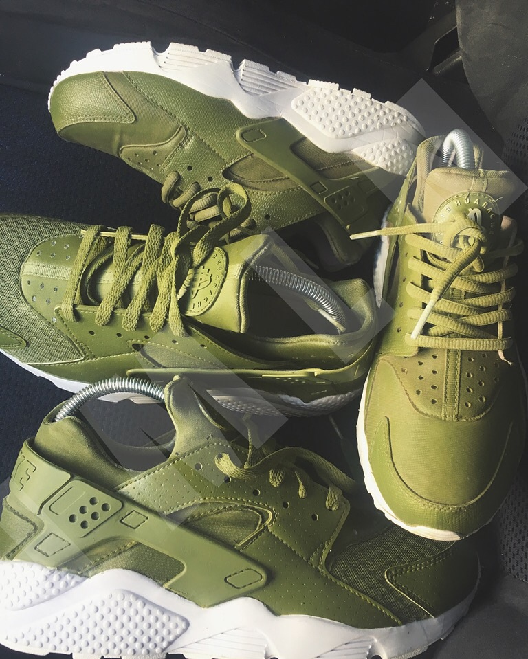 Nike Huarache Customs in Olive by JMLN