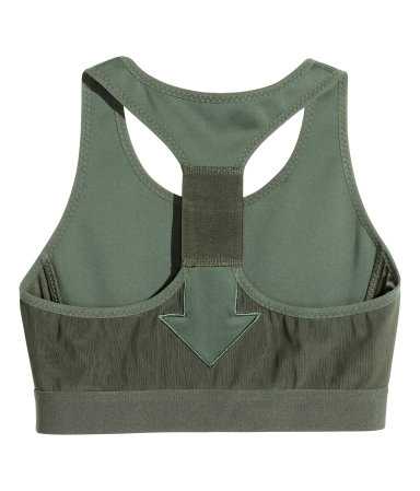 H&M Studio Spring/Summer 2016 Collection Sports Bra in Khaki Green