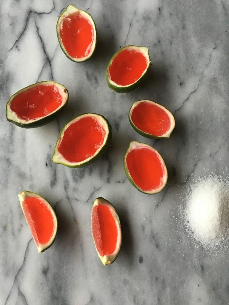 watermelon jolly rancher margarita jello shots